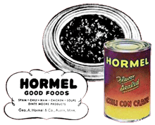 Hormel also promoted its Hormel Chili Con Carne over The George Burns ...