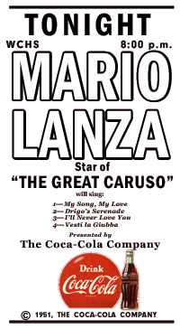 The Definitive Mario Lanza Show Radio Log with Mario Lanza