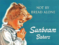 Little Miss Sunbeam illustration, 'Not By Bread Alone'