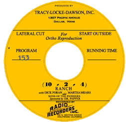 Our own 10-2-4 Ranch CD Art Label