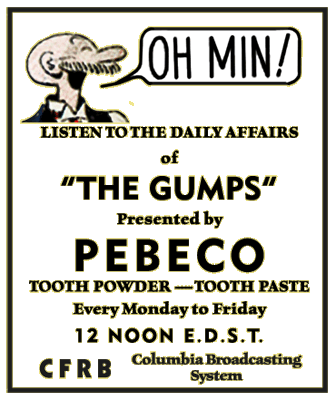 Early The Gumps Advertisement circa 1934