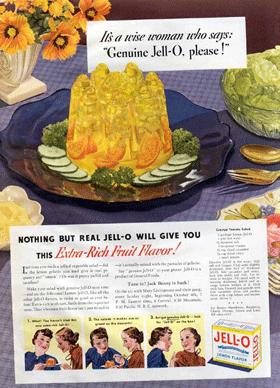 It's A Wise Woman who says ''Genuine Jell-O please!'' circa 1936