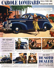 Thumbnail of Golden Age History 1939 DeSoto Ad with Carole Lombard