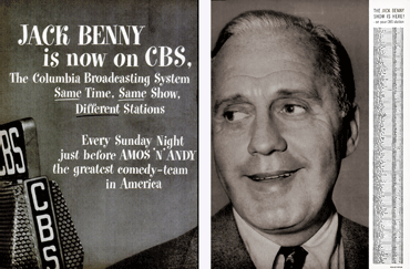 CBS announces Jack Benny on CBS from Life Magazine 49-01-03