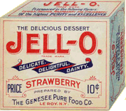 Early 'Strawberry' Jell-O box