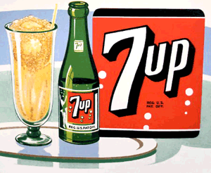 1950s 7Up Float ad