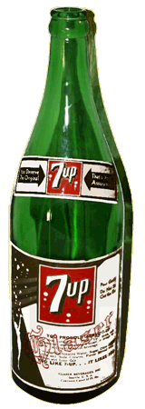 7Up Lithiated Soda Bottle