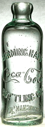 Birminghan Bottler Hitchinson Bottle circa 1896