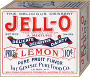 Early 'Lemon' Jell-O box