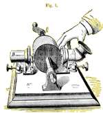Patent Illustration for Edison's Early Phonograph