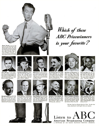 By 1948 ABC was touting a prize-winning line up of Radio features