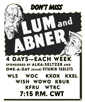 Lum and Abner Advertisement circa 1941