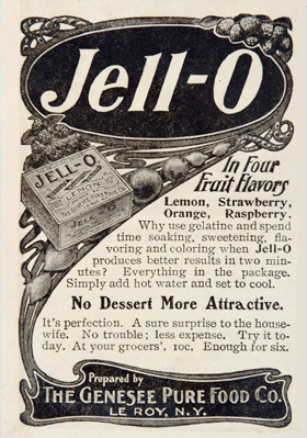 Jell-O in Four Fruit Flavors circa 1908