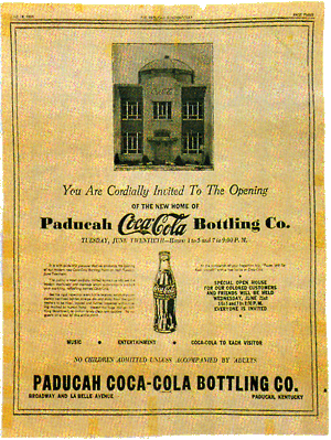 Announcement of Paducah Coca-Cola plant