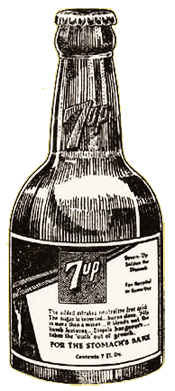 Lithiated Soda Bottle Illustration c. 1930
