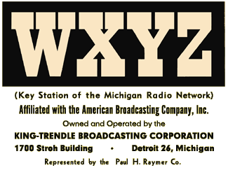WXYZ became part of the ABC Network and a Key Station for Detroit