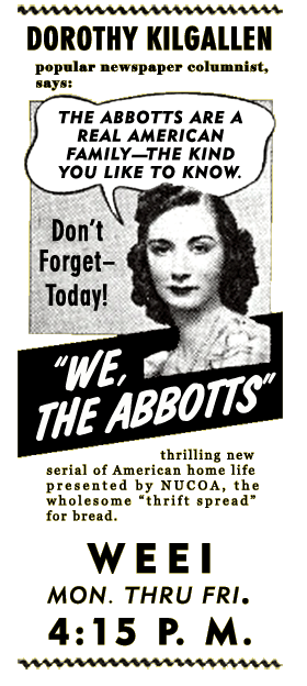NUCOA Margarine We The Abbotts Advertisement circa 1939