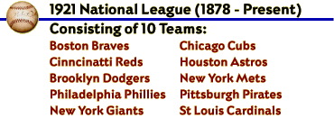 1921 National League (1878 - Present)