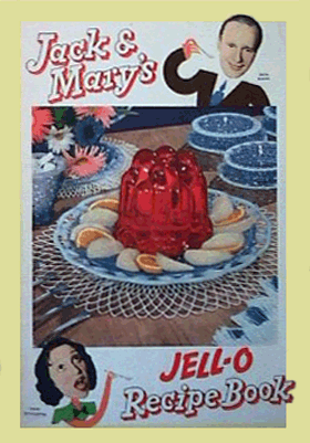Jack Benny and Mary Livingstone Jell-O recipe book circa 1937