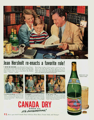 'Radio Star Jean Hersholt for Canada Dry c. 1944