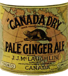 J.J.McLaughlin early 'Beaver' logo Canada Dry label