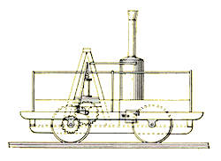 The Tom Thumb Steam Engine Patent Drawing