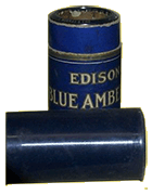 Edison Blue Amberol celluloid cylinders