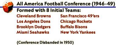 The All-America Football Conference (1946-1949) formed with Eight Initial Teams.