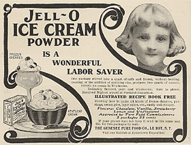 Jell-O Ice Cream Powder cira 1905