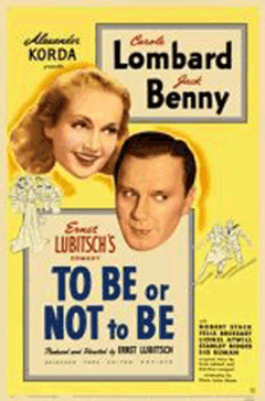 Golden Age History Photo of 1942 'To Be or Not to Be' Lobby Card