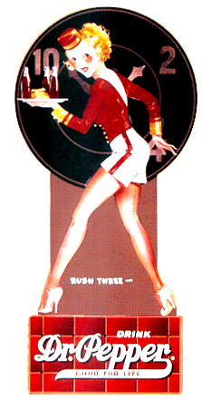 "Dr. Pepper ''Rush Three"" standie from 1946"