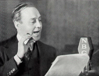 Jack Benny at the NBC Mike for Jell-O